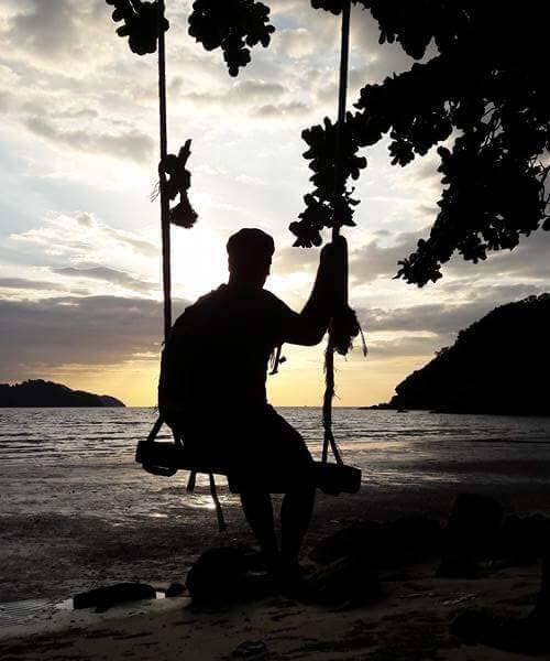 über mich i love lonely beach schaukel